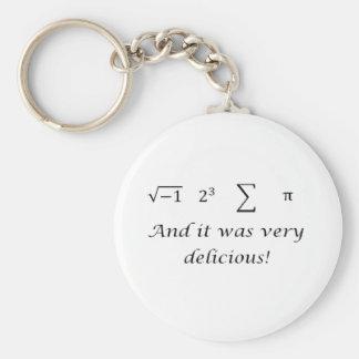 I ate some pie math shirt keychain