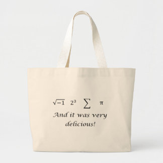 I ate some pie math shirt large tote bag