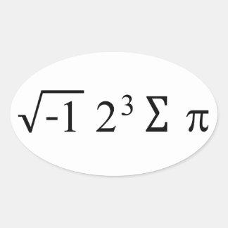 I Ate Some Pie Math Sticker Oval Stickers