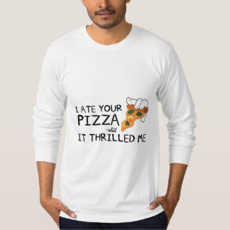 """I Ate Your Pizza"" American Apparel Sleeve Shirt"