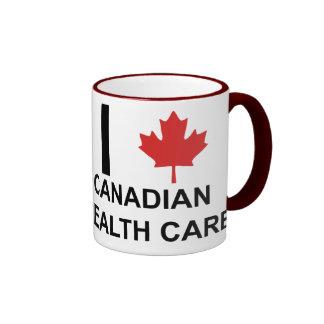 I atención sanitaria del canadiense del corazón tazas