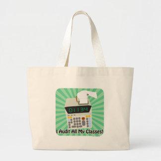 I Audit My Classes Large Tote Bag