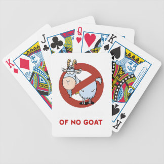 I aunt no goat funny bicycle playing cards