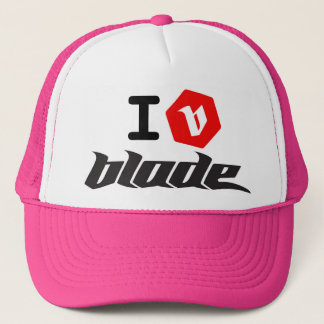 I B  blade kite Trucker Hat