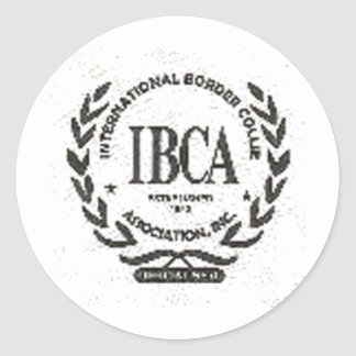 I.B.C.A. CLASSIC ROUND STICKER