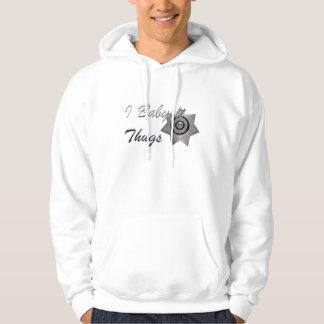 I Babysit Thugs-Officer Sweatshirt-Silver Badge Hoodie