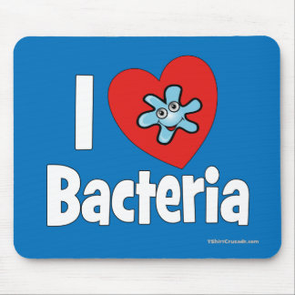 I ♥ Bacteria Mousepads
