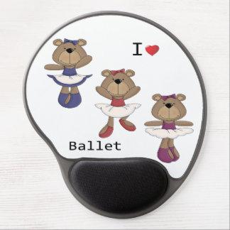 I bailarina del oso del ballet del corazón alfombrilla de raton con gel