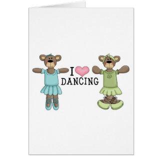 I baile del amor del corazón con los osos del ball tarjeta
