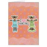 I baile del amor del corazón con los osos del ball felicitacion