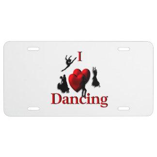 I baile del corazón placa de matrícula