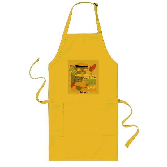 'I bake' artistic cook's apron