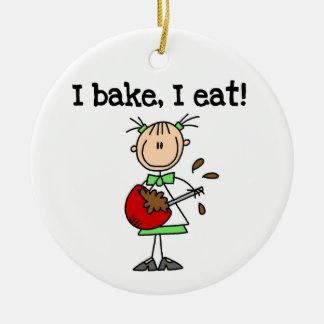 I Bake I Eat Custom Ornament