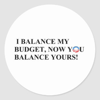 I balance my budget you can too! classic round sticker