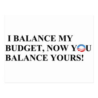 I balance my budget you can too! postcard