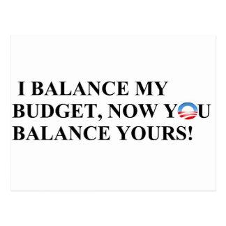 I balance my budget you can too! postcard