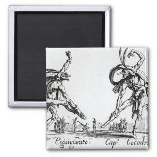 I Balli de Spessanei, or Le Grande Chasse 2 Inch Square Magnet