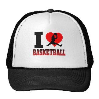 I baloncesto del corazón gorros