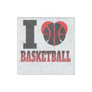 I baloncesto del corazón imán de piedra