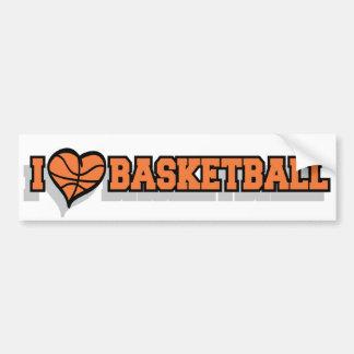 I baloncesto del corazón pegatina de parachoque