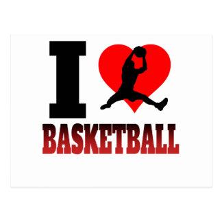 I baloncesto del corazón postal