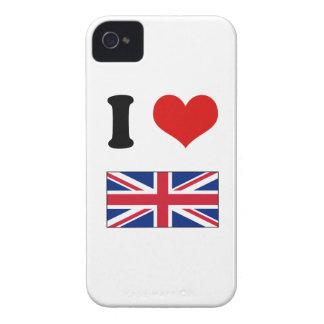 I bandera británica BRITÁNICA de Union Jack del iPhone 4 Case-Mate Fundas