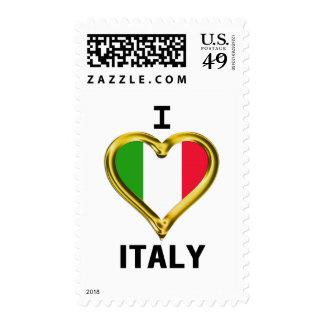 I bandera Italia del corazón Sello