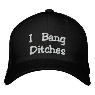 I Bang Ditches Flexfit Black Embroidered Hat