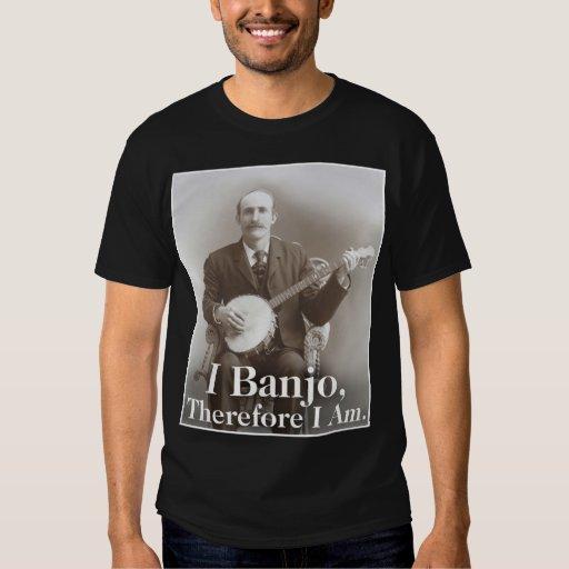 I Banjo Men's dark short sleeve T-Shirt