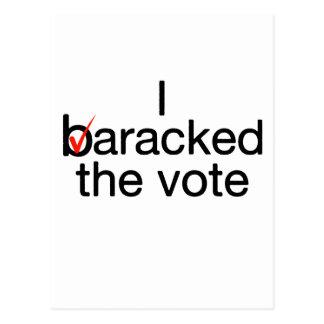 I Baracked the vote Postcard