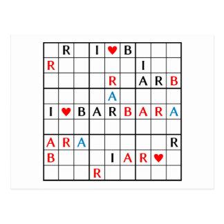 I♥BARBARA POSTALES