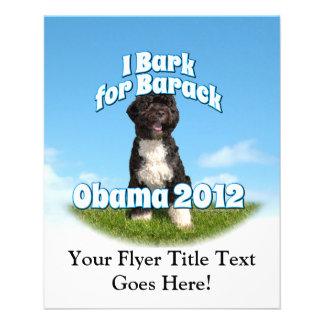 "I Bark for Barack, Bo the First Dog Obama 4.5"" X 5.6"" Flyer"