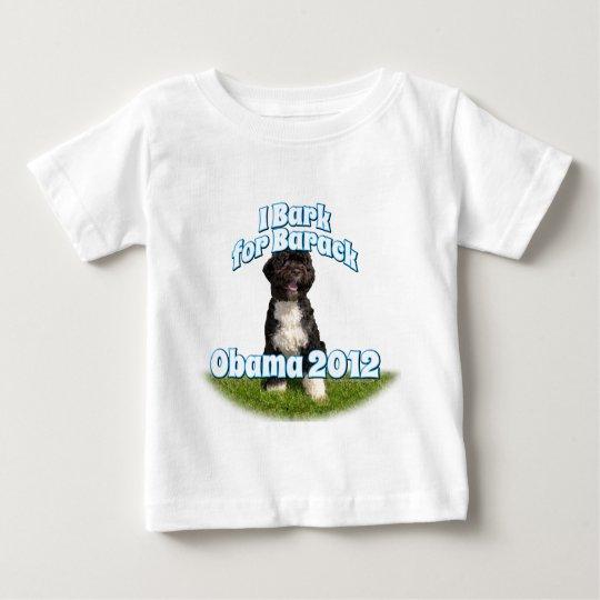 I Bark for Barack, Bo the First Dog Obama Baby T-Shirt