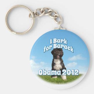 I Bark for Barack, Bo the First Dog Obama Basic Round Button Keychain