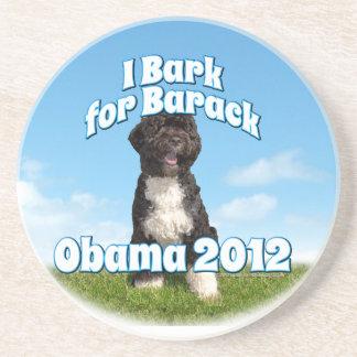 I Bark for Barack, Bo the First Dog Obama Beverage Coasters