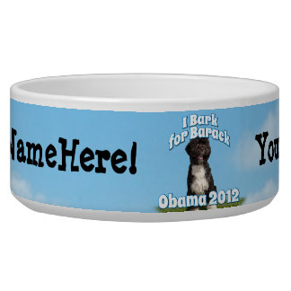 I Bark for Barack, Bo the First Dog Obama Bowl