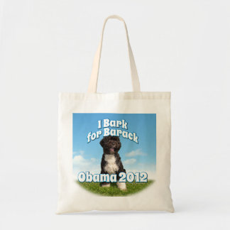 I Bark for Barack, Bo the First Dog Obama Budget Tote Bag