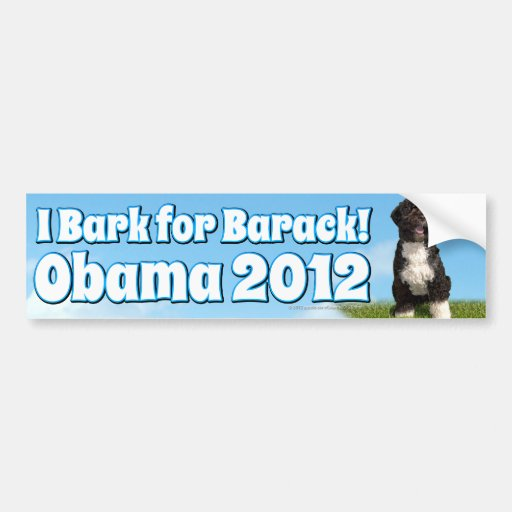 I Bark for Barack, Bo the First Dog Obama Bumper Stickers