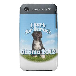 I Bark for Barack Bo the First Dog Obama iPhone 3 Case-Mate Case
