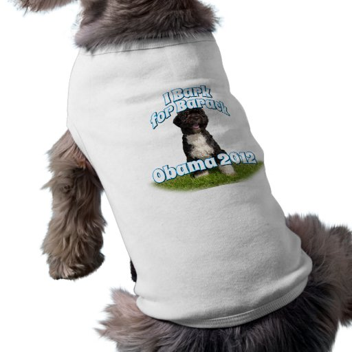 I Bark for Barack, Bo the First Dog Obama Dog T Shirt