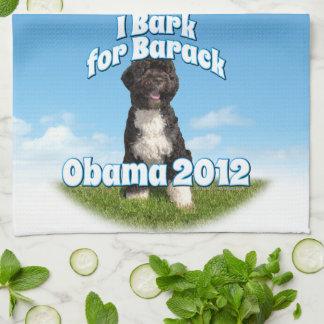 I Bark for Barack, Bo the First Dog Obama Hand Towel