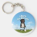 I Bark for Barack, Bo the First Dog Obama Keychains