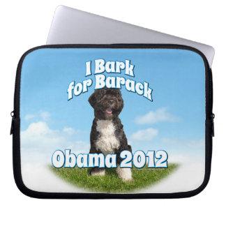 I Bark for Barack, Bo the First Dog Obama Laptop Sleeves