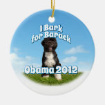 I Bark for Barack, Bo the First Dog Obama Ornament