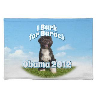 I Bark for Barack, Bo the First Dog Obama Cloth Place Mat