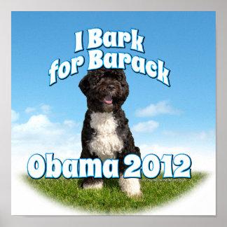 I Bark for Barack Bo the First Dog Obama Poster