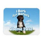 I Bark for Barack, Bo the First Dog Obama Rectangular Photo Magnet