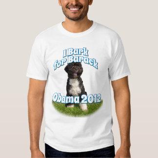 I Bark for Barack, Bo the First Dog Obama Shirt