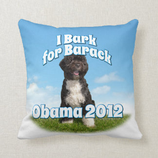 I Bark for Barack, Bo the First Dog Obama Throw Pillow
