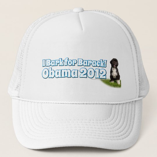 I Bark for Barack, Bo the First Dog Obama Trucker Hat